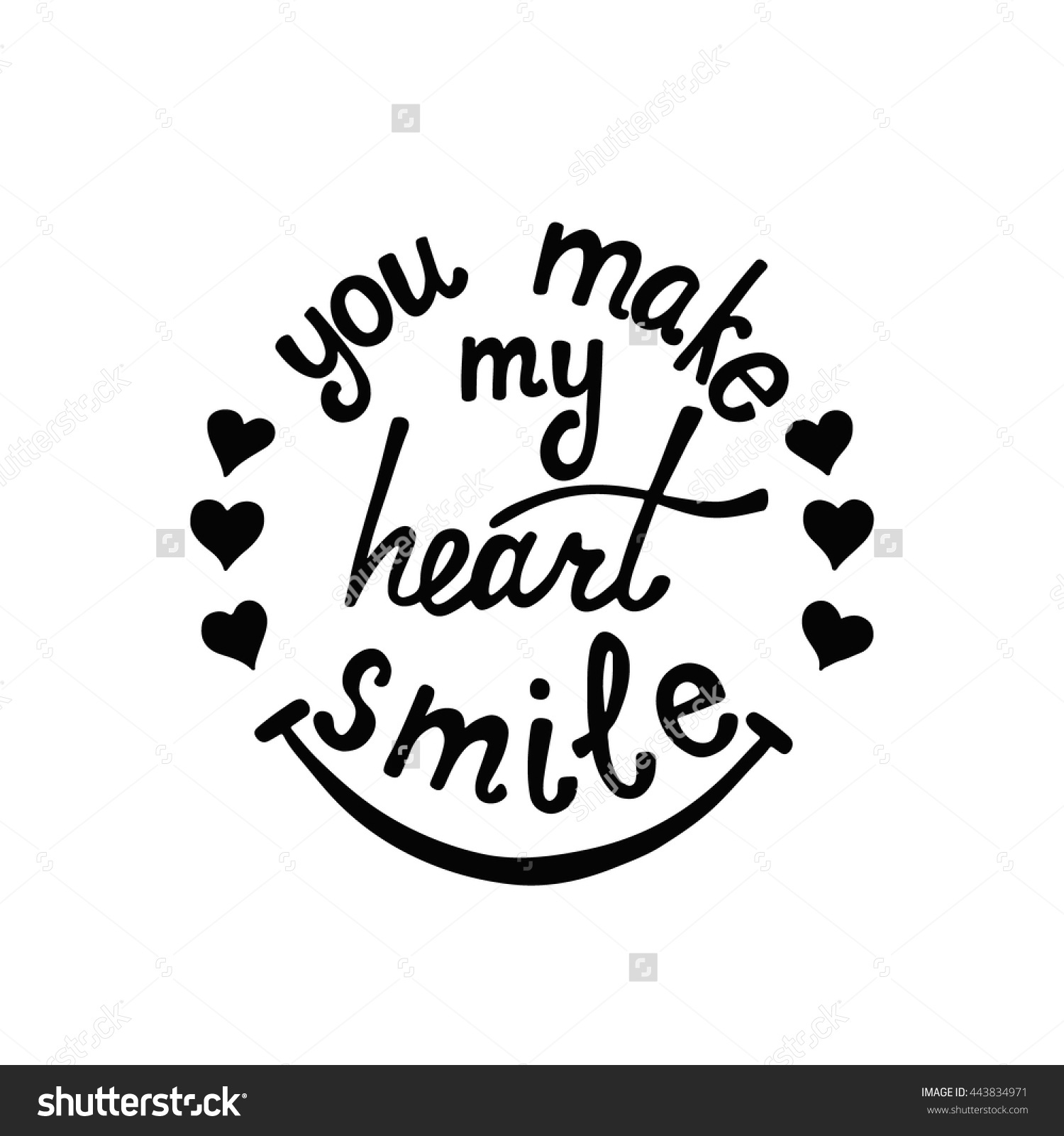 Drawn smile quote Make Quote About About Modern