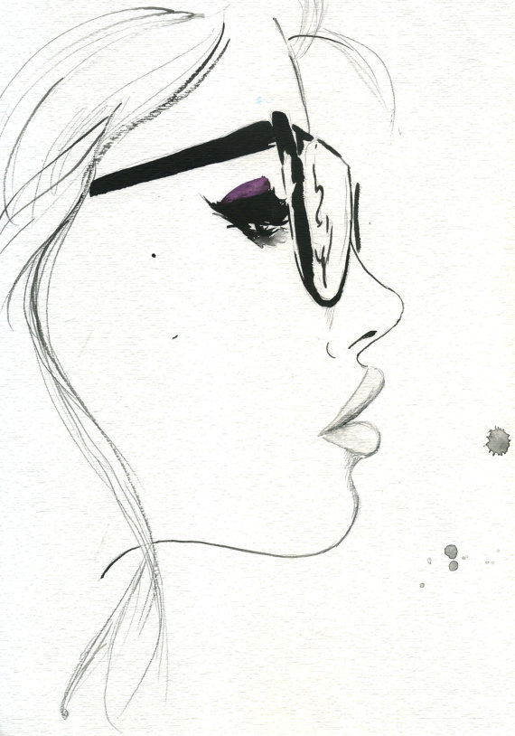 Drawn profile fashion illustration Love and Illustration Nerdy Drawings