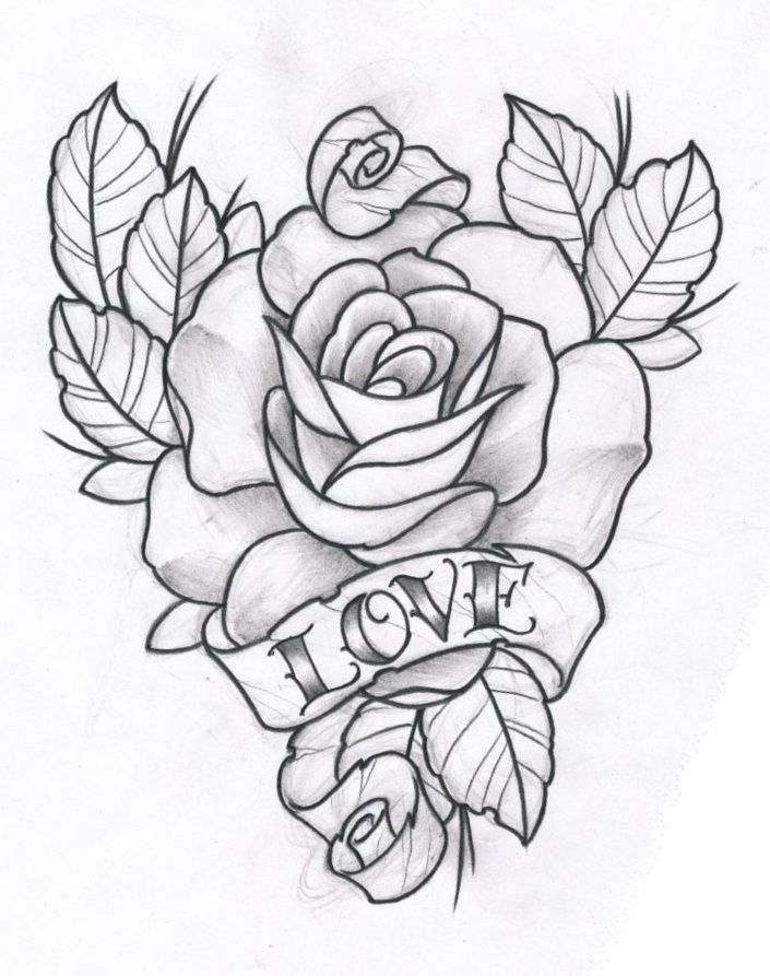 Drawn rose love Art images deviantART Love and