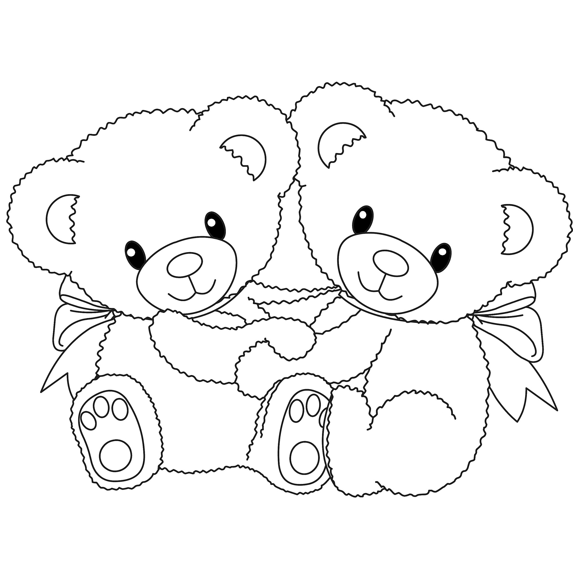Teddy clipart coloring page #8