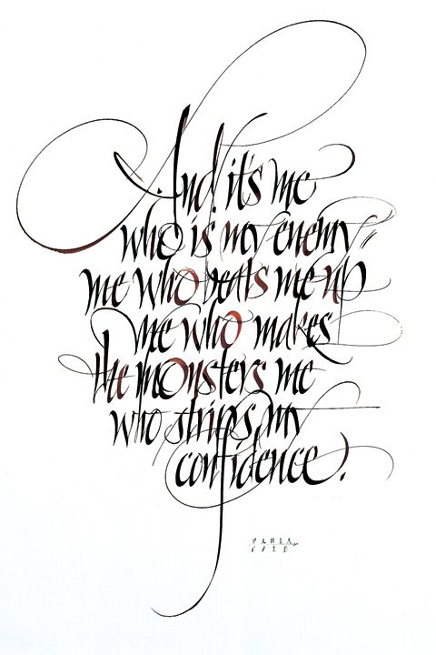 Drawn quote different font And black with ink sepia