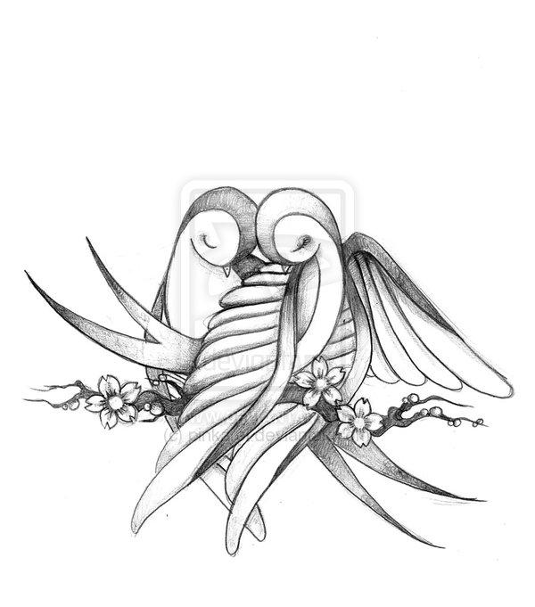 Drawn lovebird From Birds bird Drawings Love