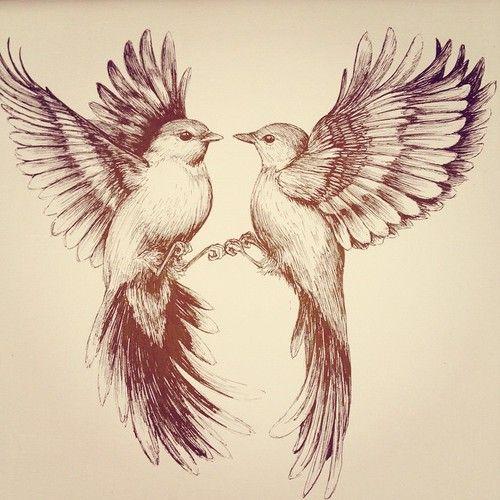 Drawn sparrow tree spirit Sleeves drawing Bird tattoo Linn