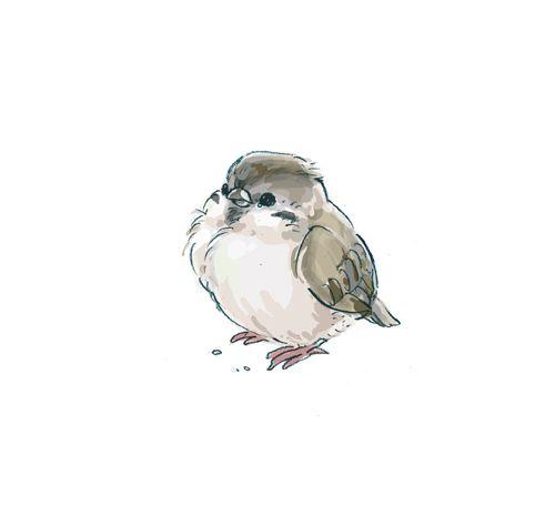 Drawn sparrow tree spirit Ideas are bird drawing Bird