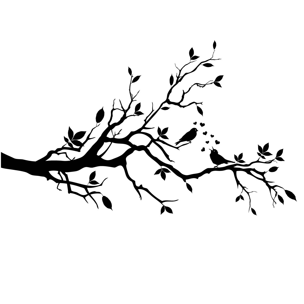Branch clipart black and white Love Birds collection branch about