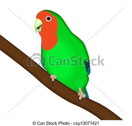 Parakeet clipart perch Lovebird Vector parrot Vector green