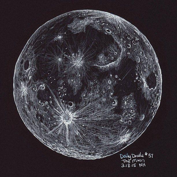 Drawn lunar The on Best ink ideas