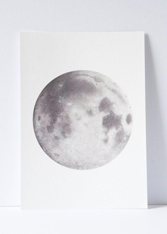 Drawn lunar Moon moon painting Moon art