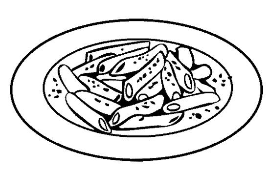 Drawn pasta macaroni #13