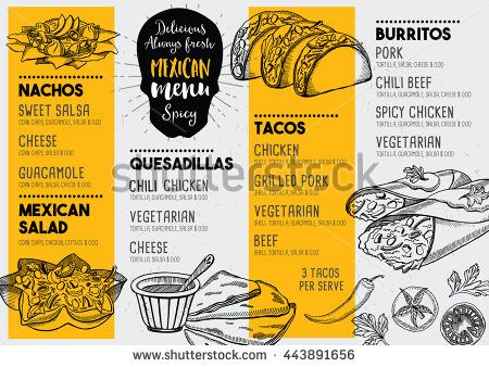 Drawn tacos delicious With Best Mexican creative Vintage