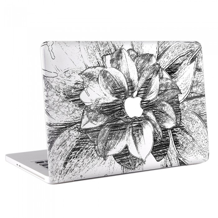 Drawn notebook apple laptop Decal Black Hand Black Decal