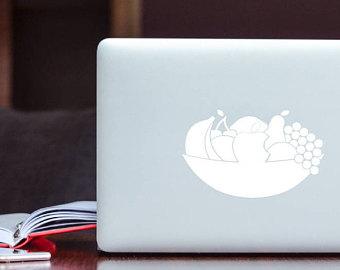 Drawn macbook apple fruit Decal Decal of macbook UK