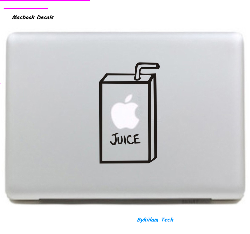 Drawn macbook apple fruit Stickers for Eating Juice Popular