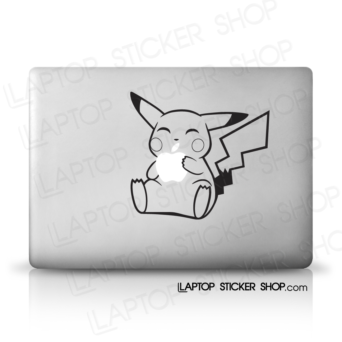 Drawn macbook eaten And and Pikachu cheap stickers