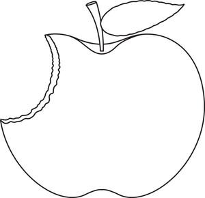 Drawn macbook eaten  Eaten Apple Stock Drawing