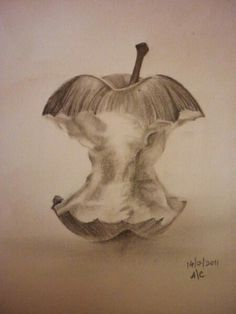 Drawn macbook eaten Apple Apple eaten pencil apple