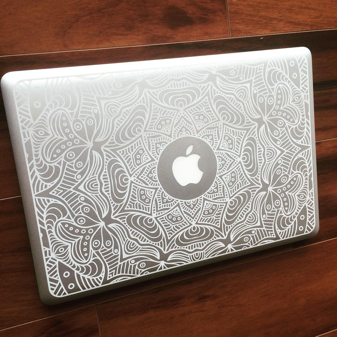 Drawn macbook engraved Your with can etched Laser