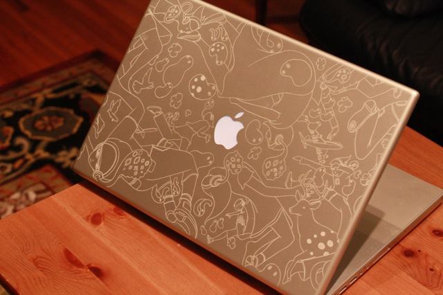 Drawn macbook engraved Gagné Engraved Pro Laser Chris