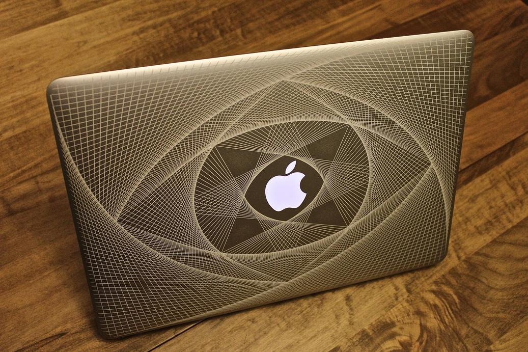 Drawn macbook engraved My laser laser Macbook newly