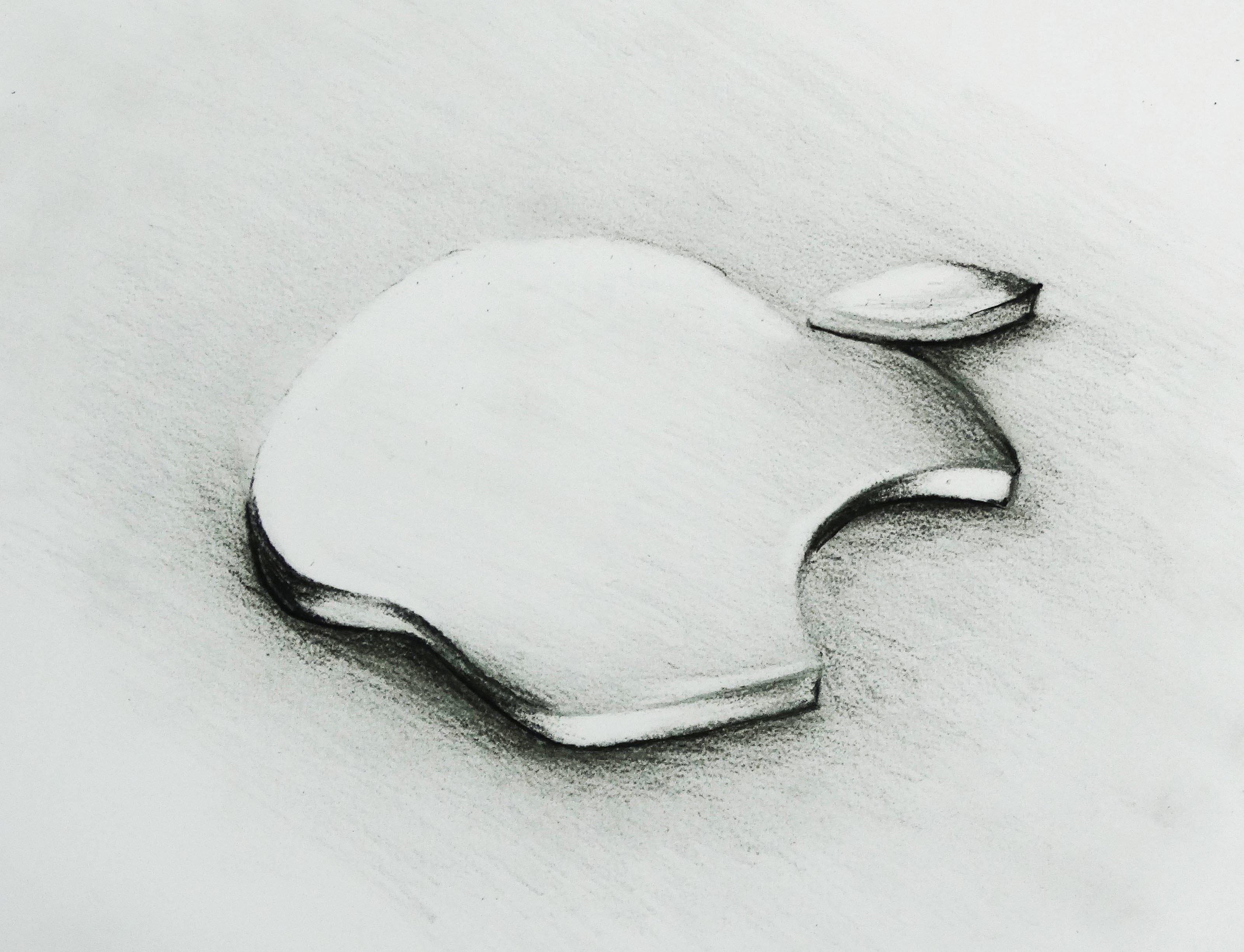 Drawn macbook illusion art (3D Platinium) logo YouTube The