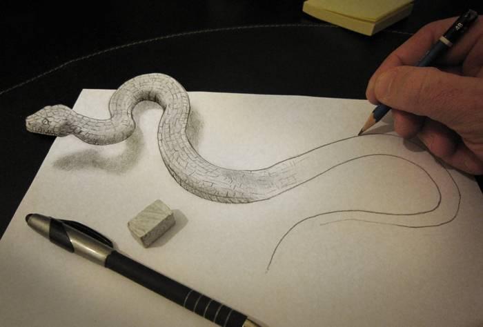 Drawn macbook illusion art  Art 3D of Alessandro