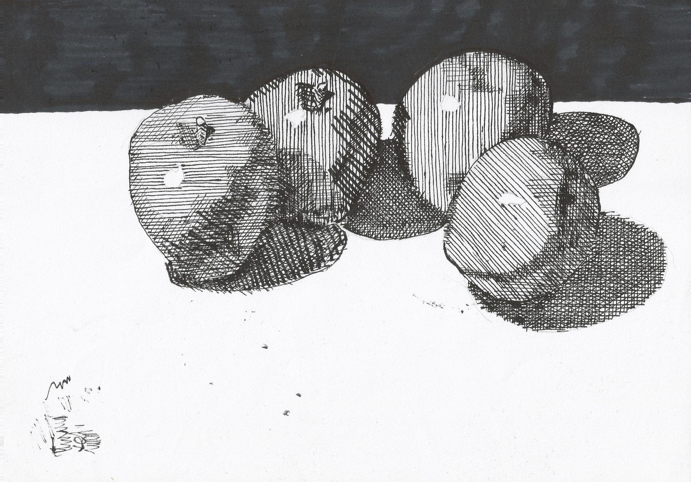 Drawn macbook ink February ink paper) A4 2013