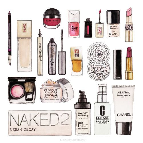 Drawn makeup Ideas chanel YSL Makeup watercolor