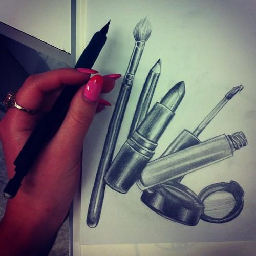 Drawn makeup Drawing Art Makeup Mac Mac