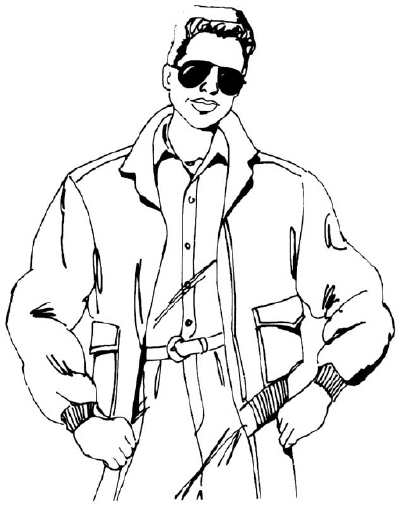 Drawn man In Man Bomber in by