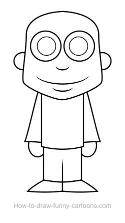 Drawn man Vector) (Sketching drawing Man drawing