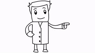 Drawn man Hand drawn illustration animation cartoon