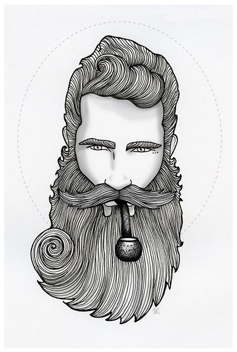 Drawn beard artistic Beard Would on ArtCool a