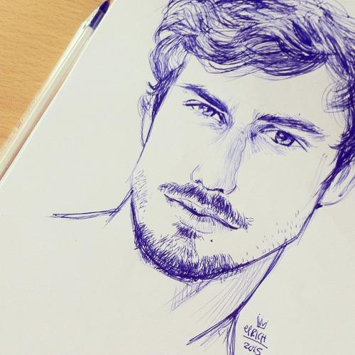 Drawn beard doodle #1