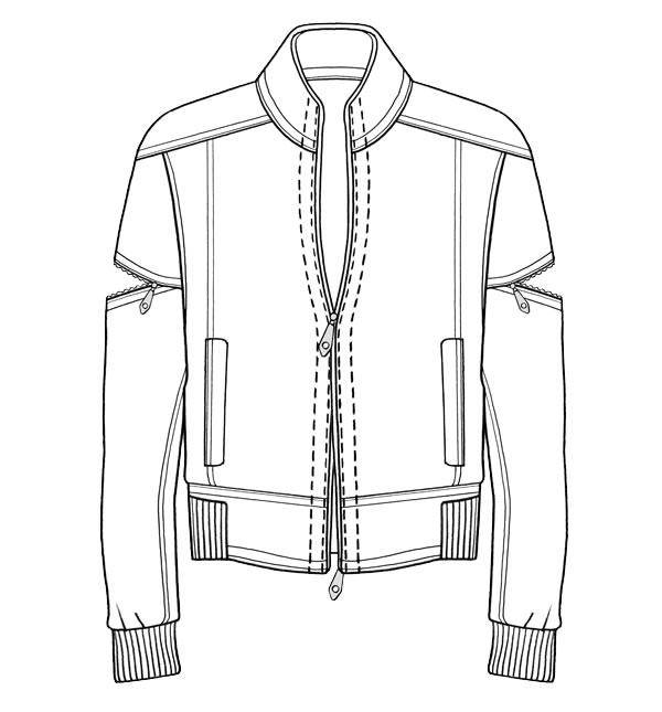 Drawn coat  drawing Cerca tecnico bomber