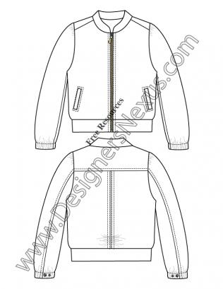 Drawn coat Fashion Fashion Templates: Technical Illustrator