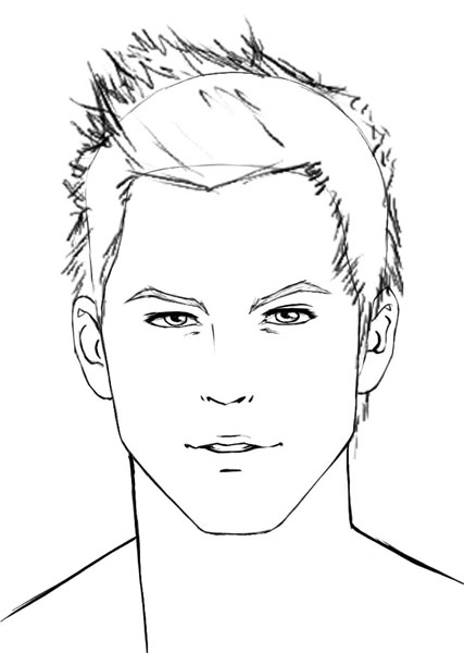 Drawn photos men's face How to draw How hair: