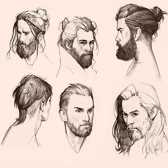 Drawn beard animated Men men a now