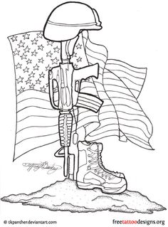 Drawn rifle Design OF memorial Military draw
