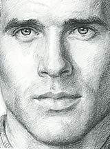 Drawn photos men's face Man Description on in Cross