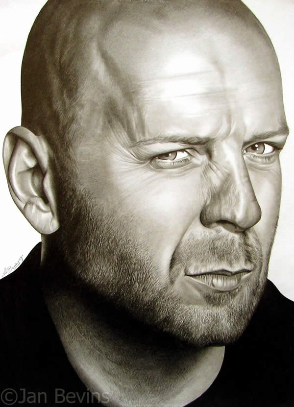 Drawn portrait drawing Of Bruce jpg Willis 48