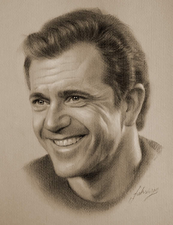 Drawn portrait male face Mel 38 jpg