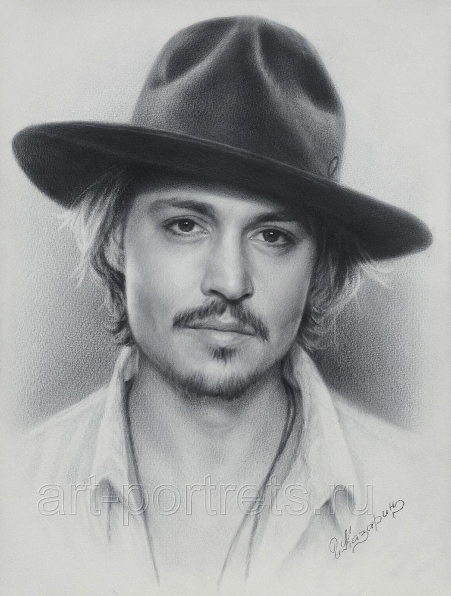 Drawn portrait professional Technique Johnny brush drawn is