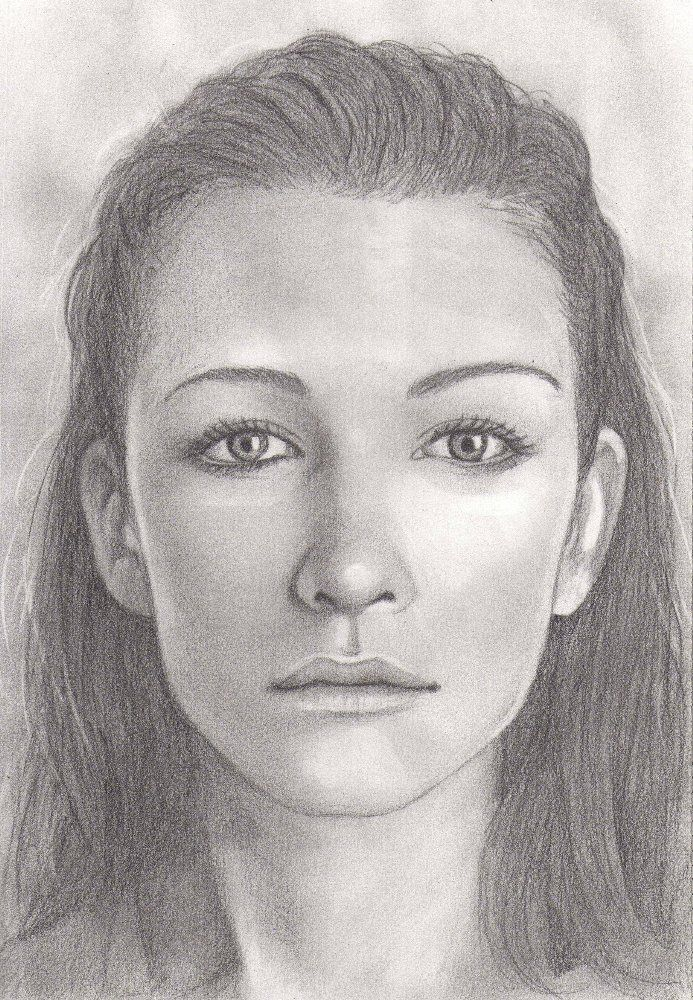 Drawn portrait black and white A from faces drawing Pinterest