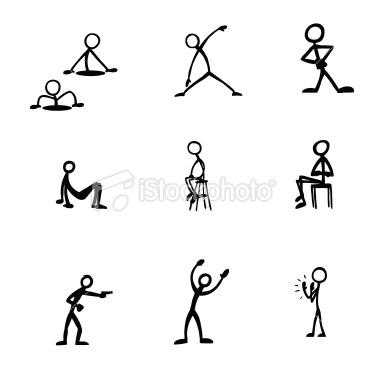 Drawn figurine match stick ManStick Figure Art Figures Royalty