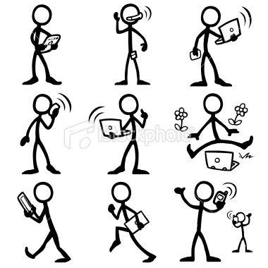 Drawn figurine sticky Ideas istockphoto_11775692 figure man computing