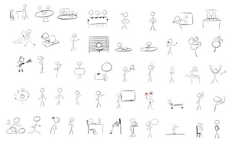 Drawn figurine person Download Process Free to The