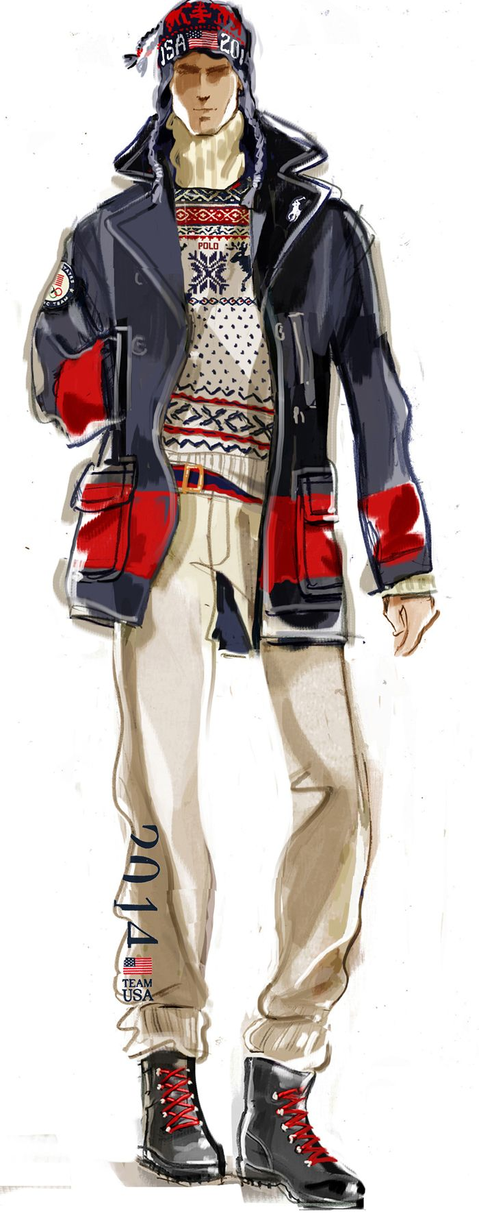 Drawn men suit illustration #4