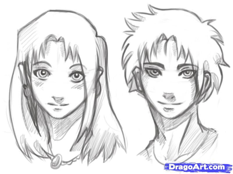 Drawn manga Heads Draw Heads to How