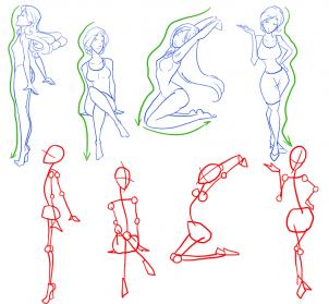 Drawn figurine body base Draw 8 step to draw