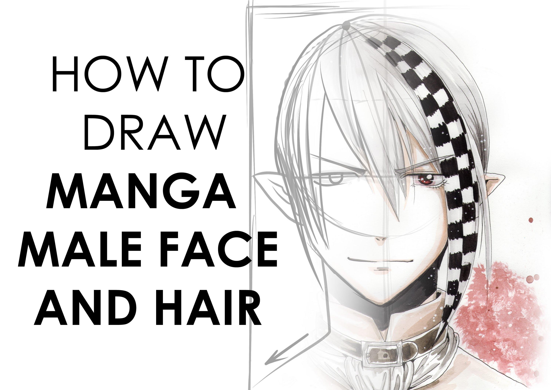 Drawn shapes Shape Manga: Male Hair to
